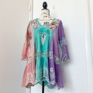 NWT Antica Sartoria Boho Dress/Tunic/Beach Coverup